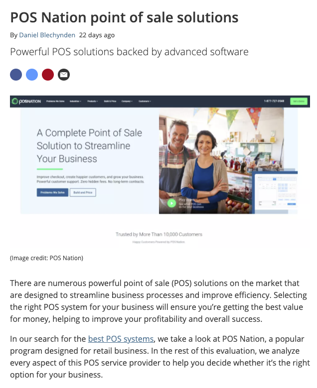 POS Nation point of sale solutions   TechRadar