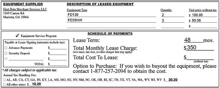 payment processing lease contract
