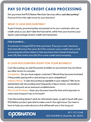 Cash Discounting Info